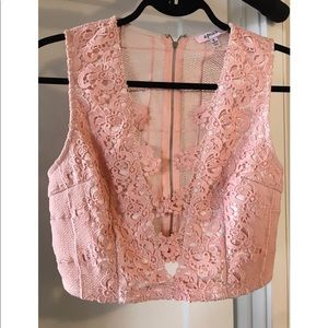 Pink lace 2 piece